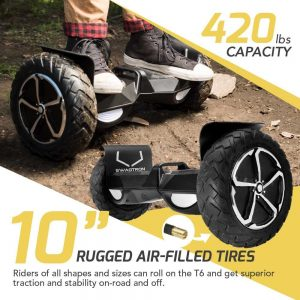 Swagtron T6 with 10 Inch Air-filled tires