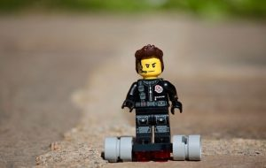 LEGO Figure on Hoverboard