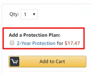 Hoverboard with Protection Plan on Amazon
